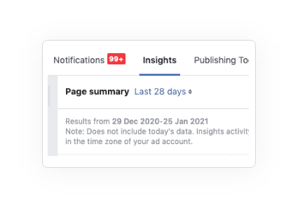 Facebook Analytic Tool Page Summary